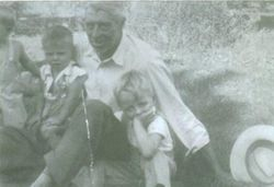 Elmer Linaweaver and His Three Grandchildren