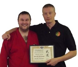 Persentation of Membership Certificate to Guru Utama Jerome Blanes and Silat Ikhtiar Malaysia (Glasgow)