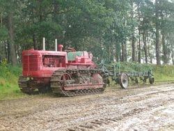 IH TD18 & plough