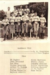 1937 96 High School Baseball Team