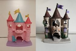 Plastic castle turned ghost castle