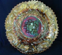 "Western Thistle 11"" chop plate - marigold"