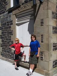Holding up a wall in Halifax