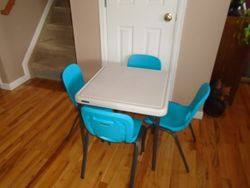 LifeTime Childrens Table and Stacking Chair Set - $90