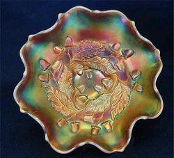 """Acorn 7"""" ruffled bowl - amber opal"""
