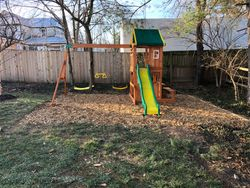 swing set installation completed in rockville MD