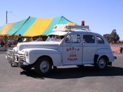 An Old Redex Car during the Parade