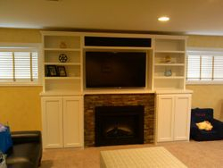 FAMILY ROOM AFTER WITH PERSONALIZED BUILT-INS