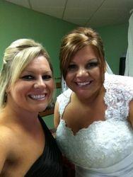 Serving as a Bridesmaid in my friend Brandi's wedding!