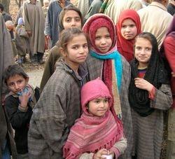Kashmiri village girls