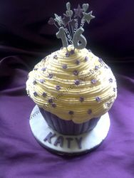 purple Giant Cupcakes