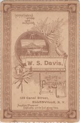 W. S. Davis, photographer, of Ellenville, NY - back