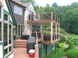 Two Story Full Length Trex Deck & Railing 8