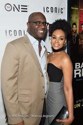 Roger Bobb and Demetria McKinney attends 'Bad Dad Rehab' Atlanta screening at Midtown Art Cinema Theatre