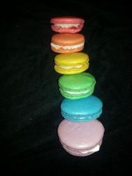 Rainbow French Almond Macaroons