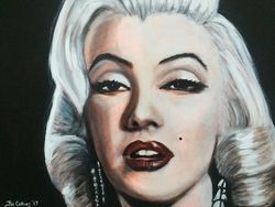 """Marilyn Monroe"", ""Film Icons"", ,acrylic on canvas, by Fin Collins, part of The Film Icons Collection www.filmiconsgallery.com"