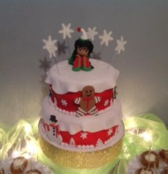 Mabels Christmas Party Cake
