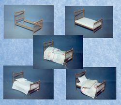 """Miniature """"brass"""" bed"""