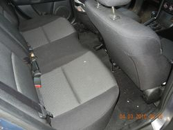 Back seat pre cleaned