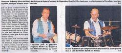 Drum solo in evening concert