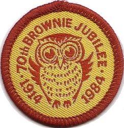 Brownies 70th Birthday Badge 1984