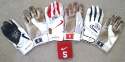 Albert Pujols 2005 and 2007 Game Used and Signed Batting Gloves