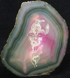09-01495 Polished Agate Etching - Crystal Ascension