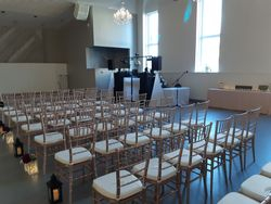 Set-Up for Ceremony at The Cornerstone