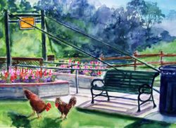 Chickens and The Swinging Bridge (Horizontal-1)