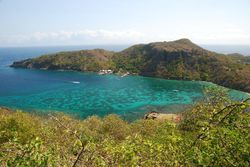 The view down to Marigot Bay from Napoleon's Fort