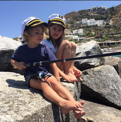 Alessandra Abrosians kids fishing