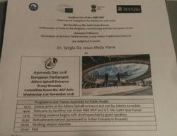 Bruselas, Nov 2018. Día de Ayurveda. Parlamento Europeo.