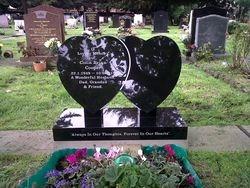 Black granite hearts