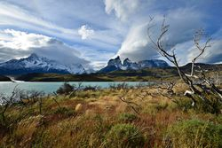 Torres del Paine mountains.