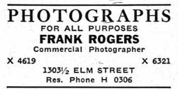 Frank Rogers, photographer, Dallas TX