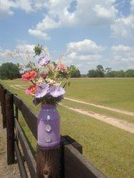 Farmer Art Painted Jar