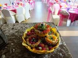 """14"""" Fruit platters Price £39 each or 10 for £350"""