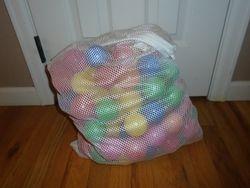 Ball Pit Balls- Quantity 115 with Washable Mesh Bag - $20