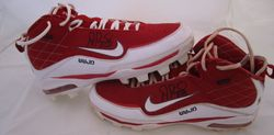 ALBERT PUJOLS 2010 SIGNED GAME USED CLEATS - MLB AND PUJOLS FOUNDATION HOLOGRAM