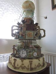 Steampunk Balloon Cake