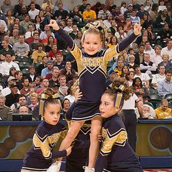 Performing at a game.