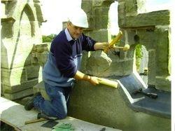 Lead work, Chapelizod Church, Dublin