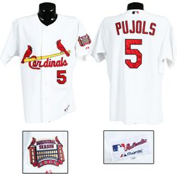 Albert Pujols 2006 Game Used Home Jersey