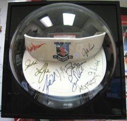 Tiger Woods, Jack Nicklaus, Justin Leonard, Larry Mize,  and Others 1996 US Open Autographed Visor
