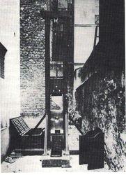 Guillotine. 1920s.