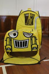 Yellow truck play tent