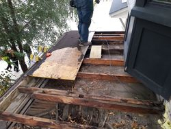 New roof - lumber and all