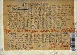 1948 Original Press Photo Grinning Face of Baseball Hitting Great Stan Musial