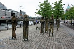 Irish famine memorial in Dublin