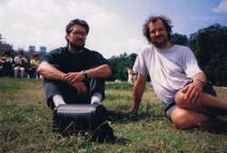 With Klaus, Viena, Austria, 1994